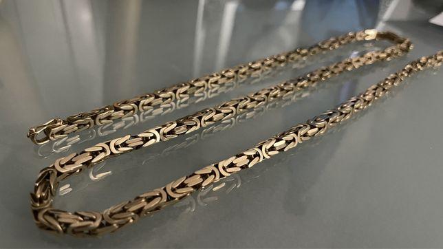 94g Nowy łańcuszek złoty 585 14k splot królewski CECHOWANY 60 cm