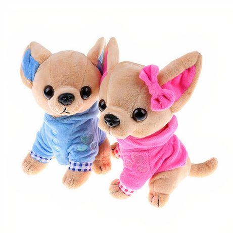 Плюшевая мягкая игрушка для детей собака Чихуахуа