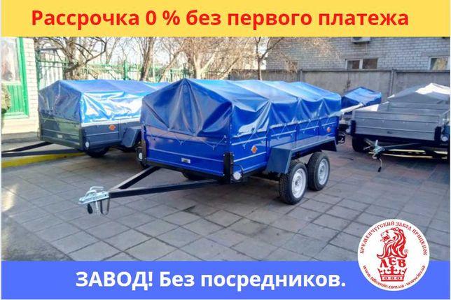ДВУХОСНЫЙ ПРИЦЕП категории Б. Рассрочка без %. Документы. Завод