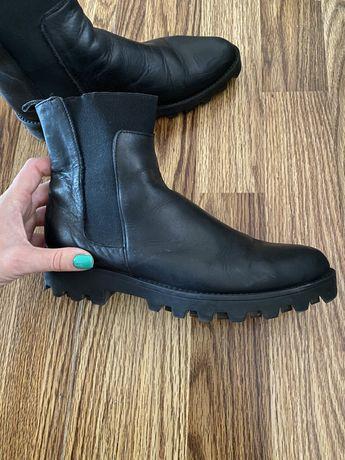 Кожаные ботинки италия 37 р