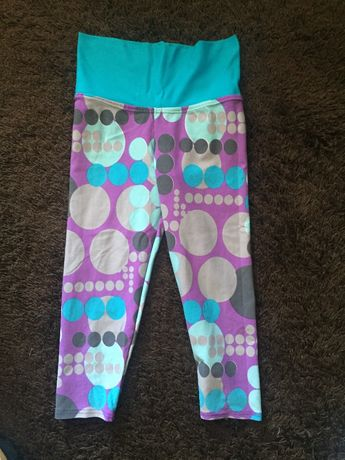 calças lycra/leggins tons azul e lilás tamanho m