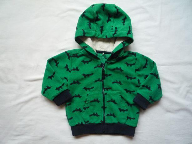 Cool Club r. 74 Smyk Polar Bluza Polarowa Zielona Dinozaury