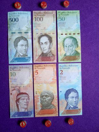 Notas da Venezuela (1) * 6 notas diferentes * Novas