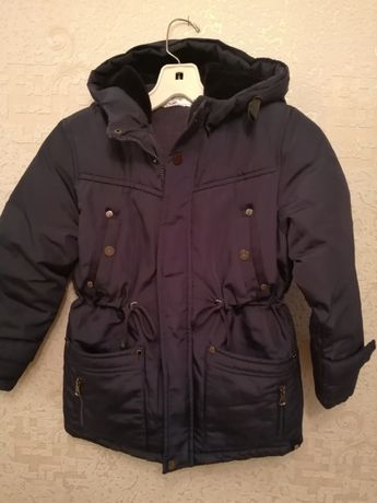куртка на мальчика зимняя 7-8лет