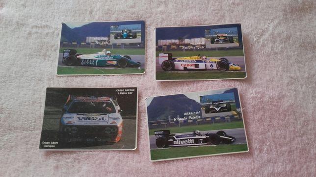 Quatro calendarios Fórmula 1