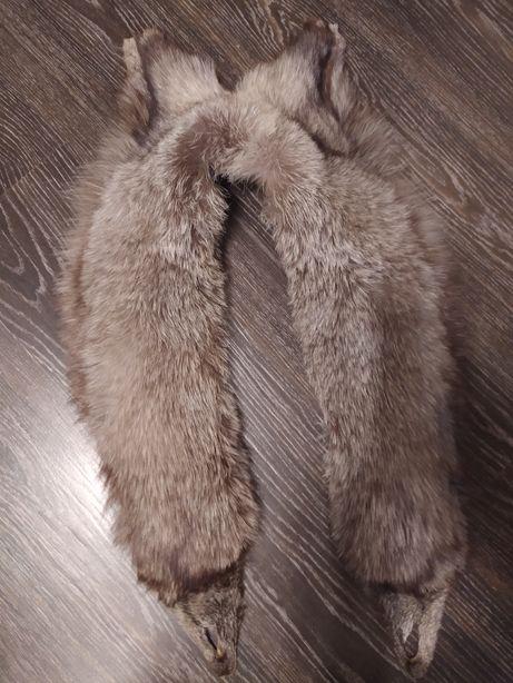 Мех чернобурки натуральный длинный хорошее состояние без дефектов