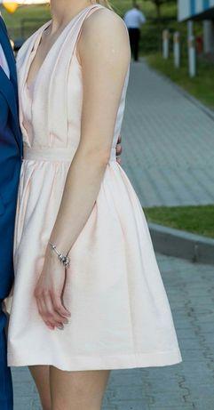 STUDNIÓWKA Illuminate sukienka 34 XS pudrowy róż wesele