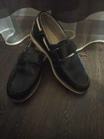 Кожаные макасины-туфли