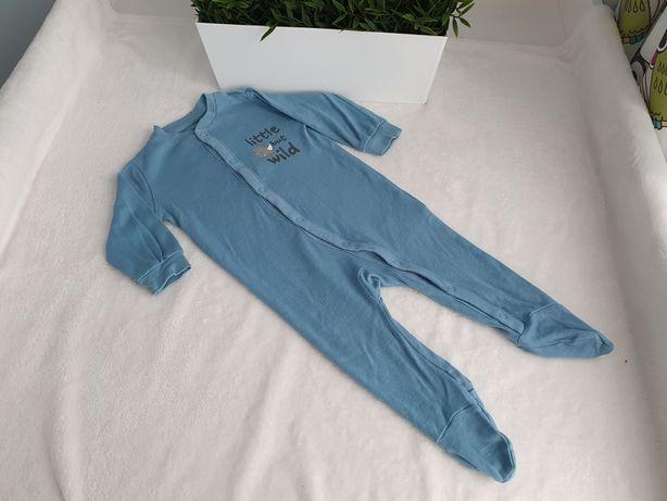 Niebieski pajac/ piżamka, roz.62