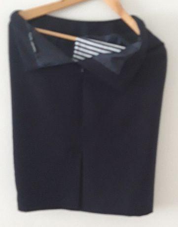 Spódnica biurowa granatowa na podszewce