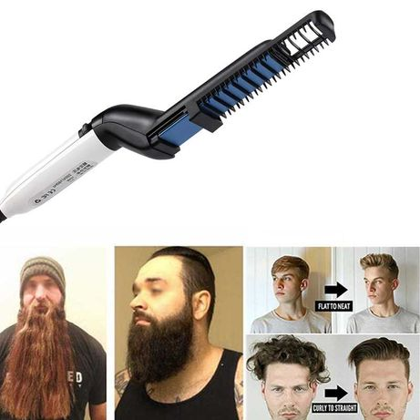 Мужской стайлер для укладки волос и бороды мужская плойка выпрямитель