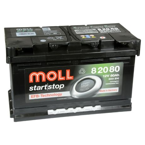 Akumulator Moll start | stop EFB 80Ah 800A