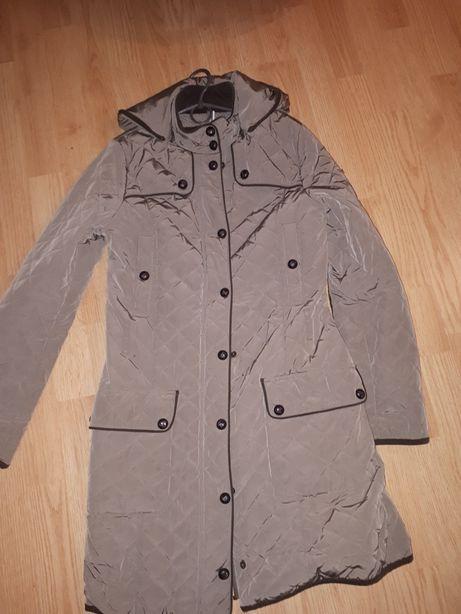 Куртка пальто плащ mango s стеганная