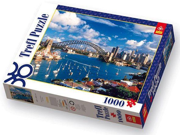 Puzzle 1000 el. Port Jackson Sydney | Trefl | Kompletne | Architektura