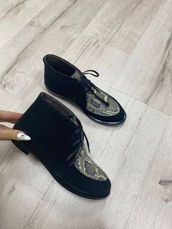 Новые стильные ботинки лоферы демисезонные весна в стиле Loro Piana