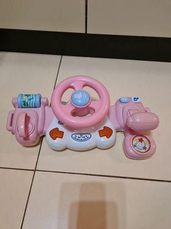 Руль на коляску , рожевий