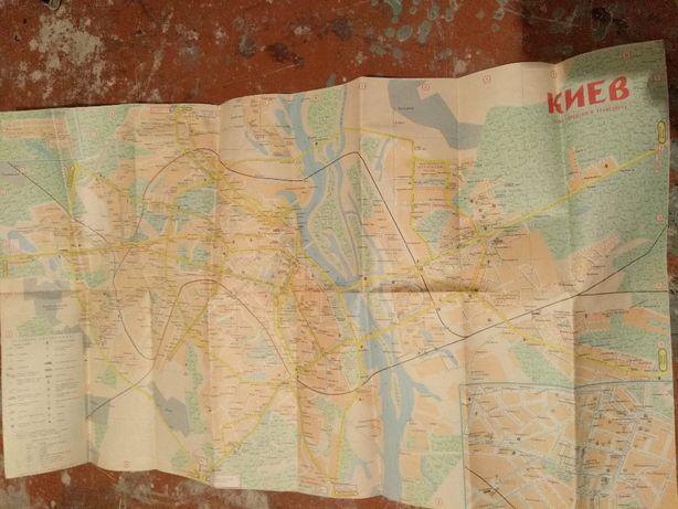 Карта города Киева.