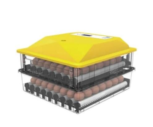 Инкубатор с двумя ярусами автоматический 128 яиц. 12В и 220В