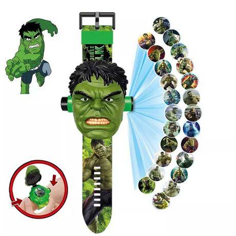 Zegarek Hulk i projektor  na ścianę 2 w 1