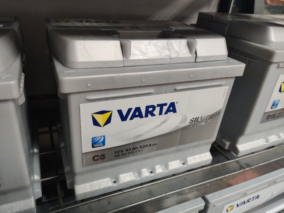 Akumulator Varta Silver Dynamic C6 12V 52Ah 520A P+ Dowóz Montaż Krak Kraków - image 1