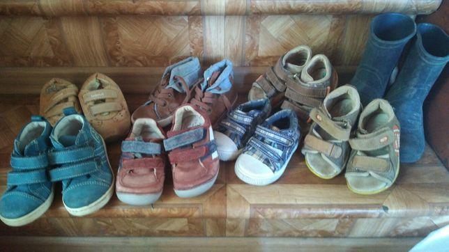 Zestaw bucików dla chłopca kalosze sandały trampki Zara timberland