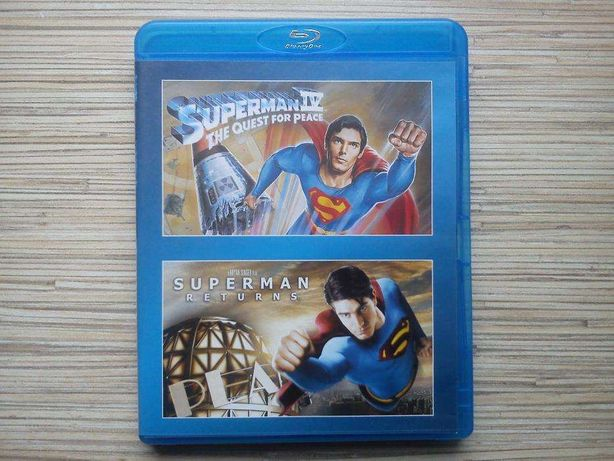 Superman IV i Superman powrót blu ray klasyka idealny stan TANIO!!!