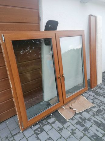 Okno złoty dąb 144x178