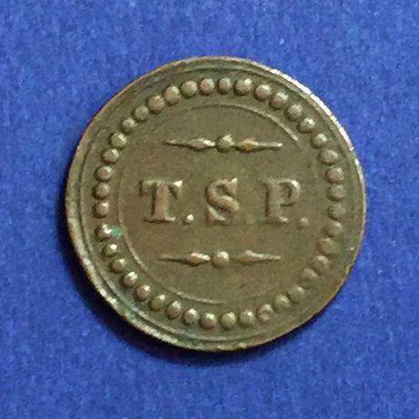 Ficha T.S.P.-Tabaco,Simonde e Pólvora-X Réis-Ilha da Madeira - Ø20mm