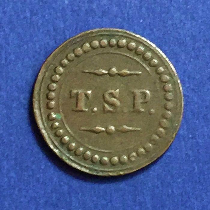 Ficha T.S.P.-Tabaco,Simonte e Pólvora-X Réis-Ilha da Madeira - Ø20mm