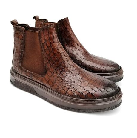 Ботинки мужские Luciano Bеllini Челси коричневые. Р: 40,41,42,43