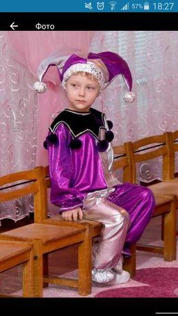 Новогодний костюм скомороха петрушка клоун арлекин