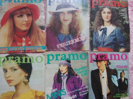 Pramo wykroje ubrań moda rok 1983 r