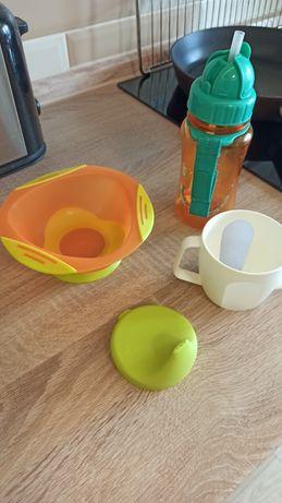 Посуда, тарелка с присоской, чашка или поильник, бутылочка с трубочкой