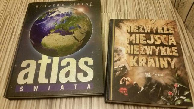 Książki atlas świata i Niezwykle krainy