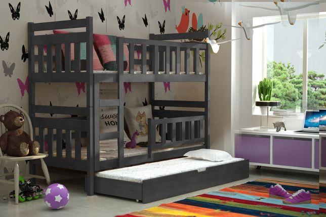 Nowoczesne łóżko STAŚ materace gratis piętrowe