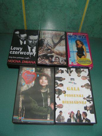 Kasety VHS szt 8