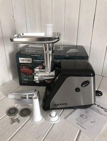 Новая мясорубка + соковыжималка Rainberg RB-676   3800W электрическая