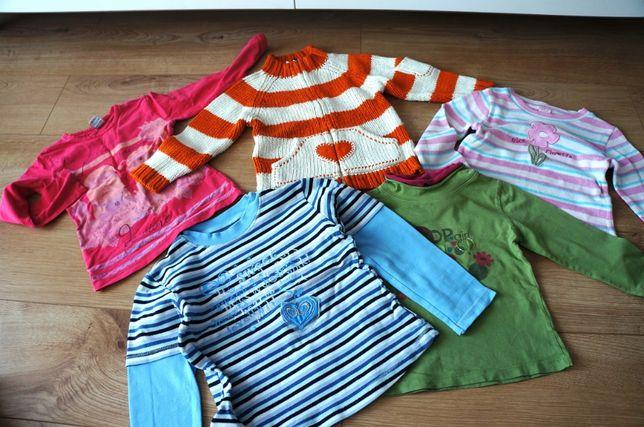 14. ZESTAW bluzki, sweter (h&m) dla dziewczynki 98-110 bluza na zamek