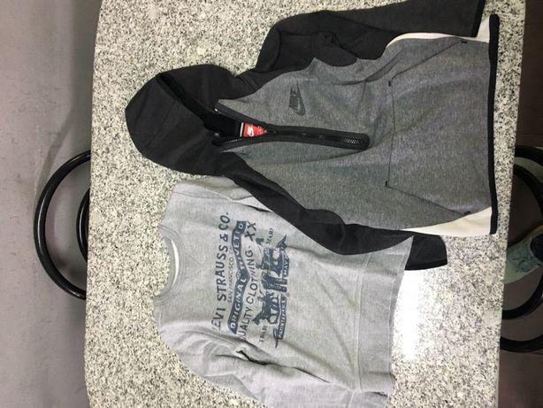 2 camisolas originais ( levis , Nike ) tamanho 8 anos