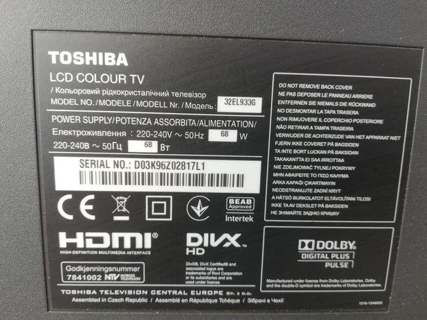 "TV Led Toshiba 32"" modelo 32 El933G"