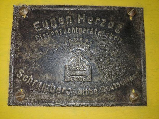 EUGEN HERZOG, urządzenie do produkcji plastrów miodu. Antyk