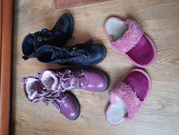 Buty zimowe botki 31/32/ kapcie góralskie dla dziewczynki
