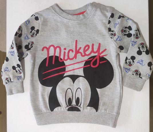 Теплая кофта свитшот Микки Disney (80см)