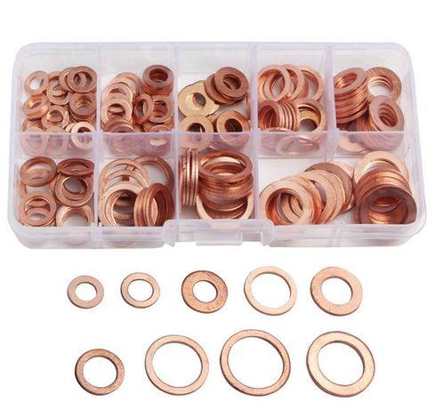 Комплект медных шайб,набор плоских кольцевых уплотнений