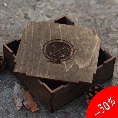 Подарочная упаковка. Деревянная коробочка ( любое лого, размер, тираж)