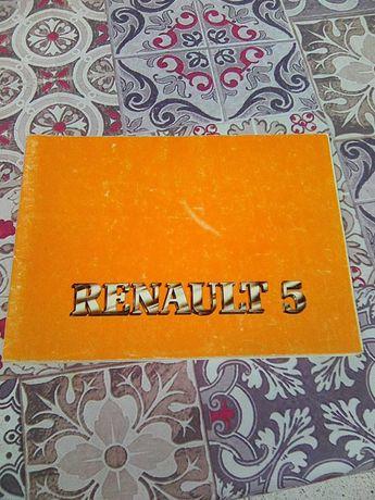 Manual de instruções do Renault 5