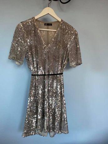 Sukienka Cekinowa Zara