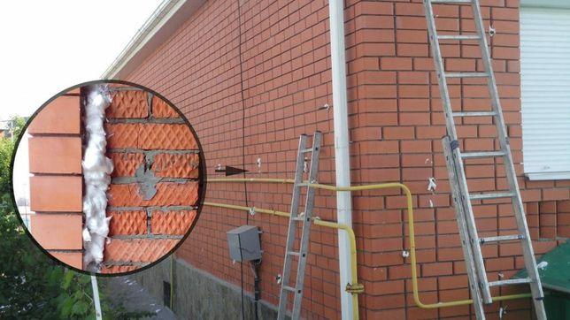 Утепления Задувка стен и чердаков дома  (Пеноизолом)