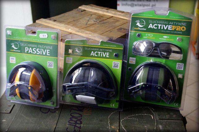 Ochronniki słuchu - słuchawki pasywne i aktywne Real Hunter