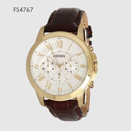 Złoty zegarek Fossil FS4767 z opakowaniem